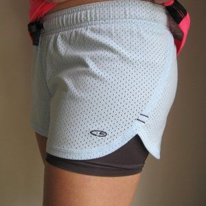 CHAMPION BLUE JERSEY ATHLETIC BICYCLE SHORTS SMALL